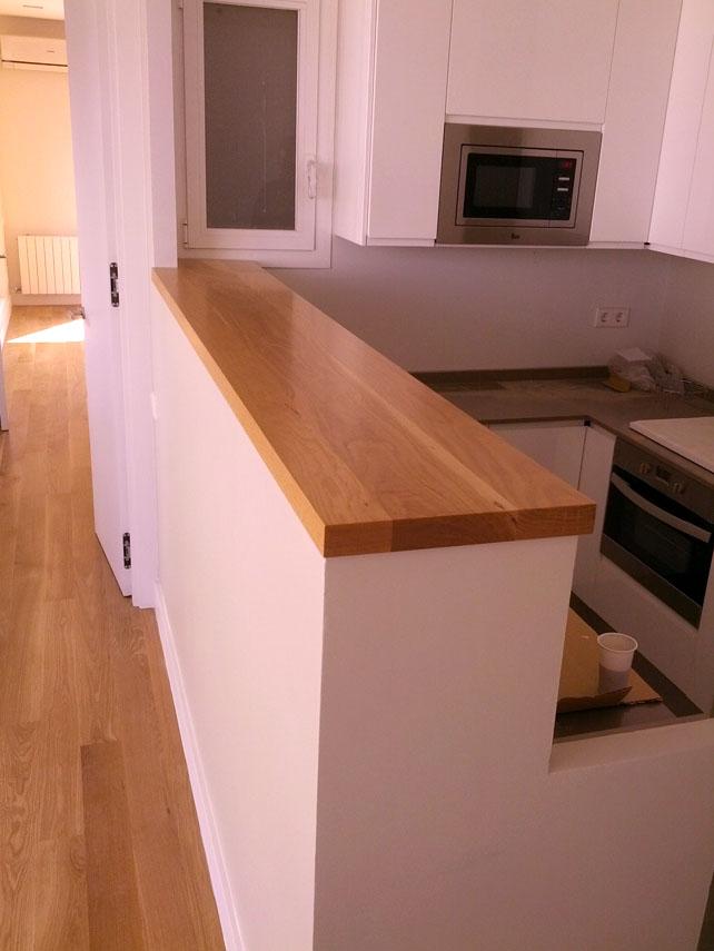 Encimeras tapas mesa tableros for Encimeras de madera para cocinas